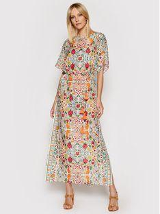 Tory Burch Sukienka letnia Printed 84549 Kolorowy Regular Fit