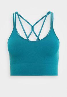 Yogasearcher - Stanik sportowy z lekkim wsparciem - niebieski