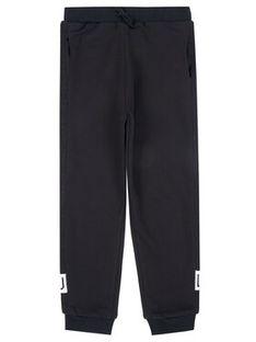 Liu Jo Kids Spodnie dresowe Felpa Lungo G69205 F0791 Czarny Regular Fit