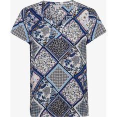 Wielokolorowa bluzka damska Marie Lund z wiskozy w abstrakcyjnym wzorze