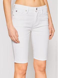 Tommy Hilfiger Szorty jeansowe Venice WW0WW30531 Biały Slim Fit