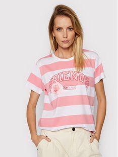 PLNY LALA T-Shirt Friends PL-KO-CL-00197 Różowy Classic Fit