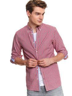 Koszula z tkaniny oksford o kroju slim