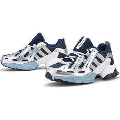 Buty sportowe damskie Adidas eqt support skórzane bez wzorów sznurowane na płaskiej podeszwie