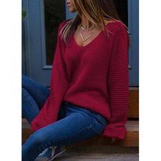 Sweter damski Sandbella czerwony