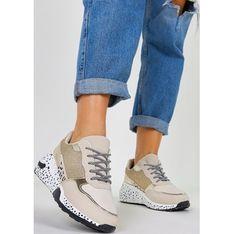 Buty sportowe damskie Casu sneakersy wiosenne na płaskiej podeszwie