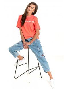 "Tommy Jeans ""Crop Tee"" Orange"