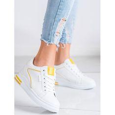 Buty sportowe damskie CzasNaButy na wiosnę białe wiązane