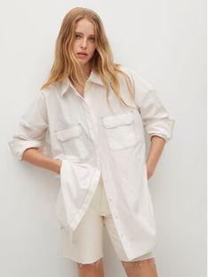 Mango Koszula Marykate 17092022 Biały Oversize