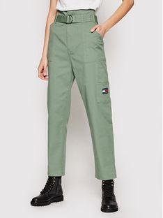 Tommy Jeans Spodnie materiałowe Tjw Paperbag Cargo DW0DW09741 Zielony Relaxed Fit