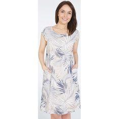 Sukienka Unisono z krótkimi rękawami mini z okrągłym dekoltem