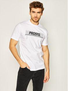 PROSTO. T-Shirt KLASYK Bench 8608 Biały Regular Fit