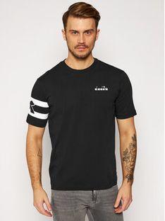 Diadora T-Shirt Ss Hoops 502.176437 Czarny Comfort Fit
