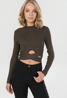 Ciemnozielony Sweter Liarie