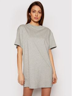 Nike Sukienka codzienna Essential CJ2242 Szary Loose Fit