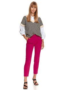 Spodnie damskie w intensywnym kolorze