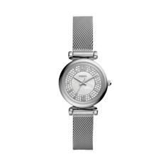 Zegarek FOSSIL - Carlie Mini ES4837 Silver/Silver