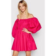 Sukienka Patrizia Pepe mini z długim rękawem z okrągłym dekoltem