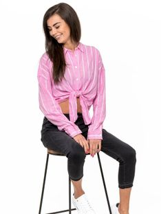 """Tommy Jeans """"Relaxed Front Shirt"""" Pink"""