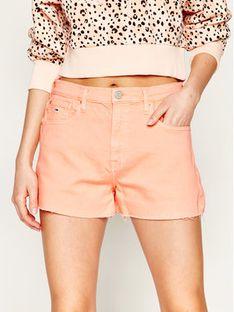 Tommy Jeans Szorty jeansowe Raw Hem DW0DW08233 Pomarańczowy Regular Fit