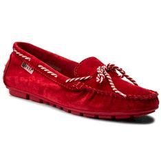 Mokasyny NESSI - 18307 Czerwony W