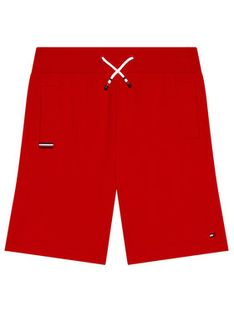 Tommy Hilfiger Szorty sportowe KB0KB06597 D Czerwony Regular Fit