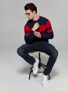 Sweter multikolorowy