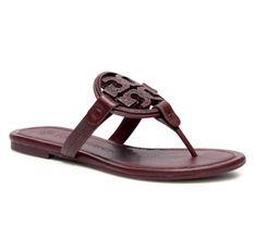 Japonki TORY BURCH - Metal Miller Embellished Sandal 79535 Burgundy 927
