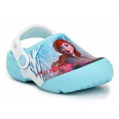 Klapki Crocs Kraina Lodu Fl Ol Disney Frozen 2 Cg Jr 206167-4O9 białe niebieskie