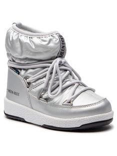 Moon Boot Śniegowce Jr Girl Low 34051800002 Srebrny