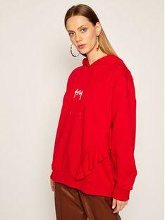 MSGM Bluza 2941MDM78 207799 Czerwony Oversize