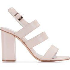 Sandały damskie Wittchen beżowe eleganckie skórzane