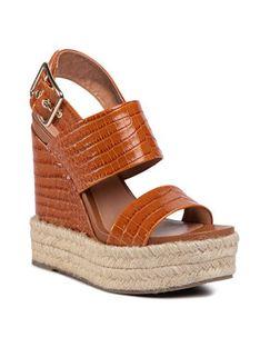 TWINSET Espadryle Sandalo 201TCT016 Brązowy