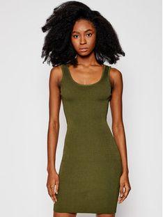 Guess Sukienka codzienna W1GK85 Z2U00 Zielony Slim Fit