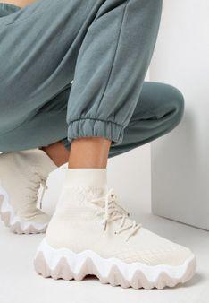 Jasnobeżowe Sneakersy Zarinaith