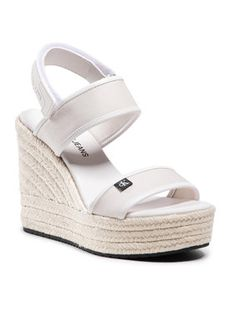 Calvin Klein Jeans Espadryle Wedge Sandal Sling Co YW0YW00034 Beżowy