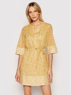 Marella Sukienka codzienna Avorio 32212712 Żółty Regular Fit