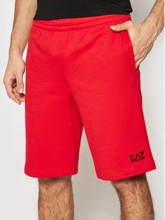 EA7 Emporio Armani Szorty sportowe 8NPS02 PJ05Z 1451 Czerwony Regular Fit