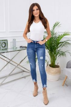 Spodnie jeansowe z przetarciami Sara