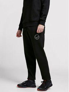 Jack&Jones Spodnie dresowe Elias 12195676 Czarny Comfort Fit
