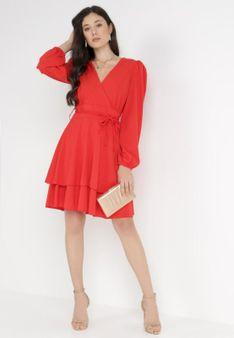 Czerwona Sukienka Holaqen