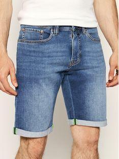 Pierre Cardin Szorty jeansowe 3033/6100 Granatowy Regular Fit