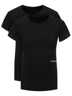 Calvin Klein Underwear Komplet 2 t-shirtów Statement 1981 000QS6198E Czarny Regular Fit