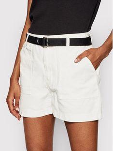 Vans Szorty jeansowe Clark VN0A5DN3 Biały Regular Fit