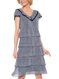 Sukienka midi z falbanami Potis & Verso LAMBADA