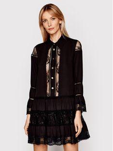 Babylon Sukienka koszulowa N_EL0701 Czarny Relaxed Fit