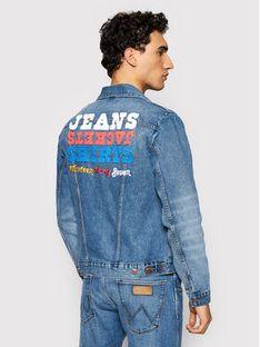 Wrangler Kurtka jeansowa Icons W4MJUG12K Granatowy Regular Fit