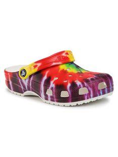 Crocs Klapki Classic Tie Dye Graphic Clog 205453 Kolorowy