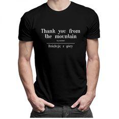 Thank you from the mountain - męska koszulka z nadrukiem