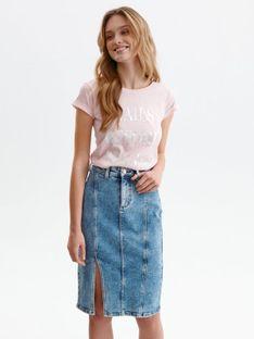 T-shirt z błyszczącym nadrukiem